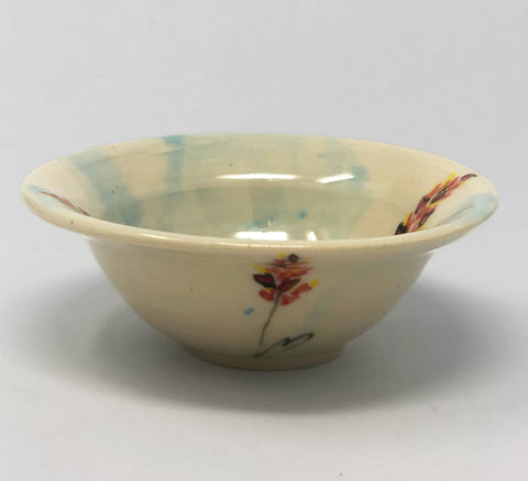 Small Spice Bowl / Blue Wash / Indian Paintbrush Motif