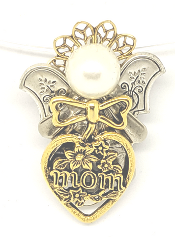 Gift For all Moms. Angel pin for your special mom to wear proudly.