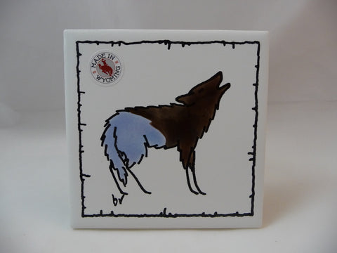 Wolf Wildlife Tile Coaster