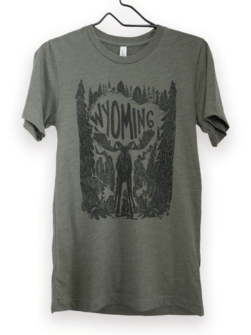 Wyoming moose original, graphic design on t shirt