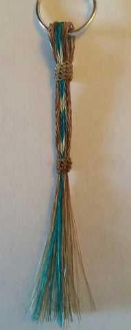 Braided Horsehair Long Wide Keychain