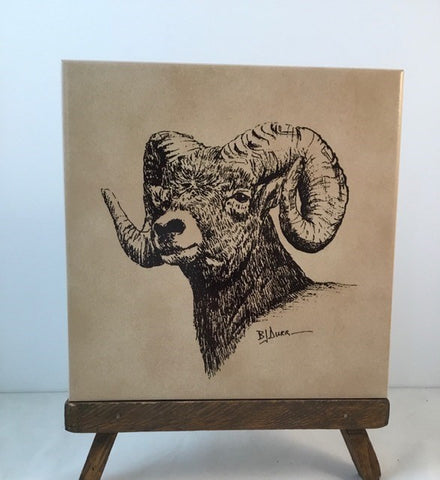 Big Horn Sheep Trivet