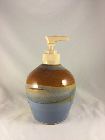 BS-187 Pottery Soap Pump Bottle  Bonnie Schlesselman