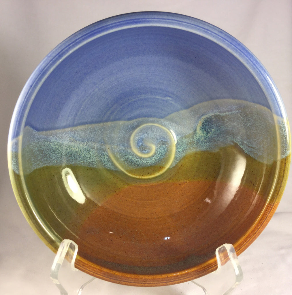 BS-187 Pottery Bowl Small Blue / Green Bonnie Schlesselman
