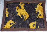 MP-155 Placemats Brown and Gold Bucking Horse Bronco