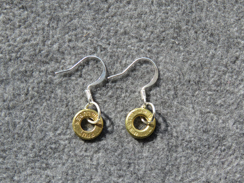 JO-141 B-2 Thin Cut Brass Earrings