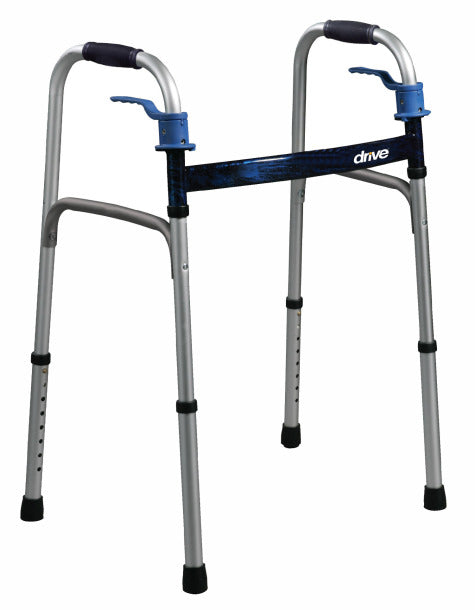 Aluminum Folding Walker with Paddle Release