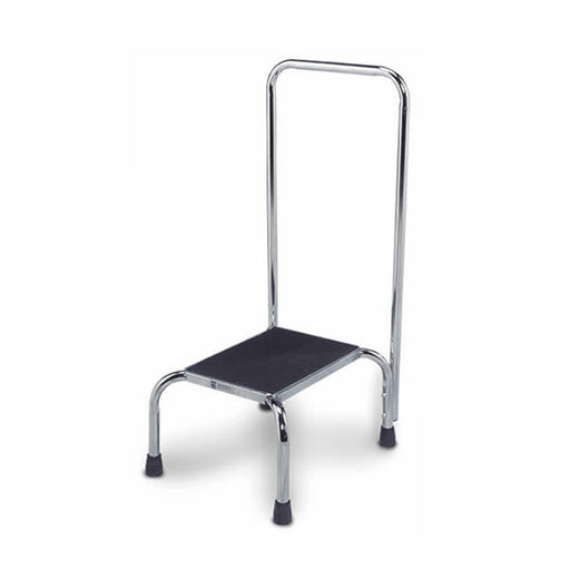 Step-on Stool with Chrome Handrail