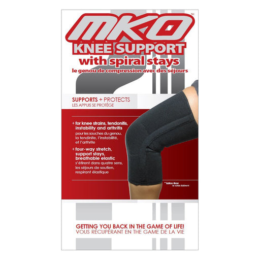 MKO Knee Support Spiral Stays (Closed Patella)