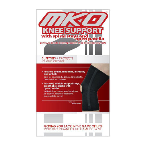 MKO Knee Support Spiral Stays (Open Patella)