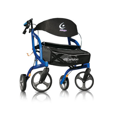 Airgo® eXcursion™ XWD Lightweight Side-fold Rollator (400 lb Weight Capacity/Extra-Wide)