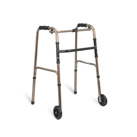 Airgo® Folding Walker with 5 in. Wheels (Adult, Bronze)