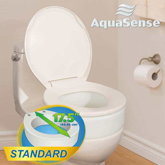 "AquaSense® Toilet Seat Riser (17.5"" or 19.5"")"