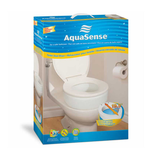 "AquaSense® Raised Toilet Seat with Lid (2"" Raise or 4"" Rise)"