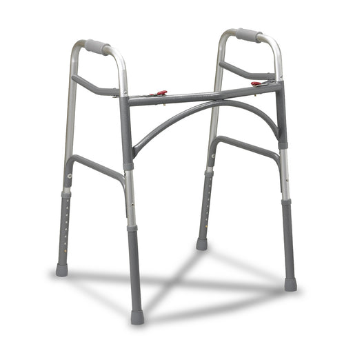 Bariatric Aluminum Folding Walker, Two Button