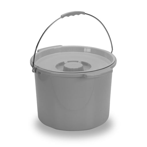 Commode Bucket with Metal Handle and Cover (12 Quart)