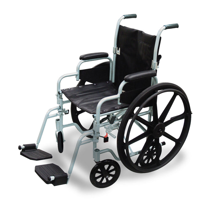 Poly-Fly High Strength, Lightweight Wheelchair/Flyweight Transport Chair Combo
