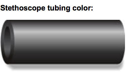 Color Pro Sprague-Rappaport Type Stethoscope (Black Tubing)