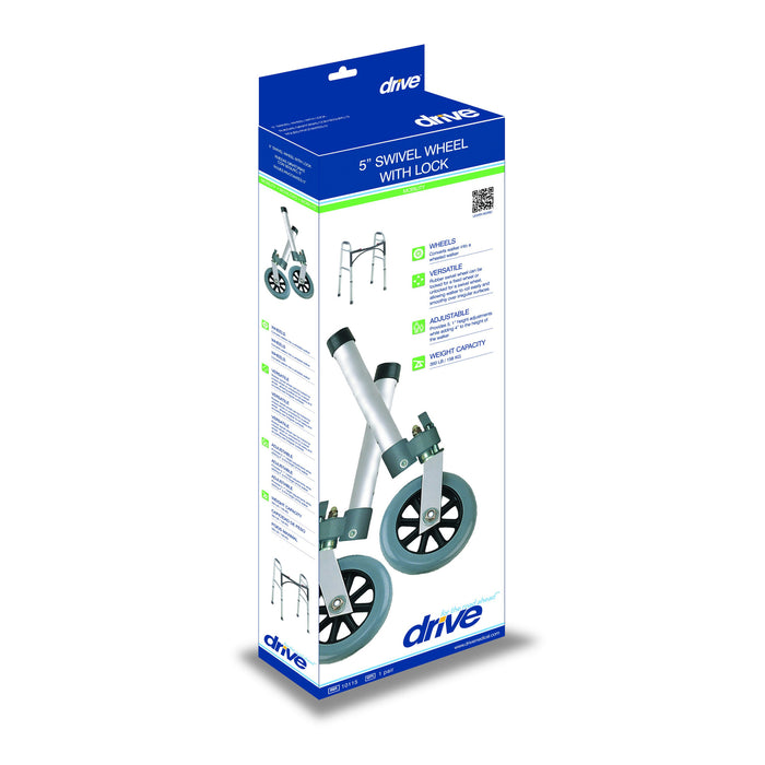 Swivel Wheel with Lock & Two Sets of Rear Glides