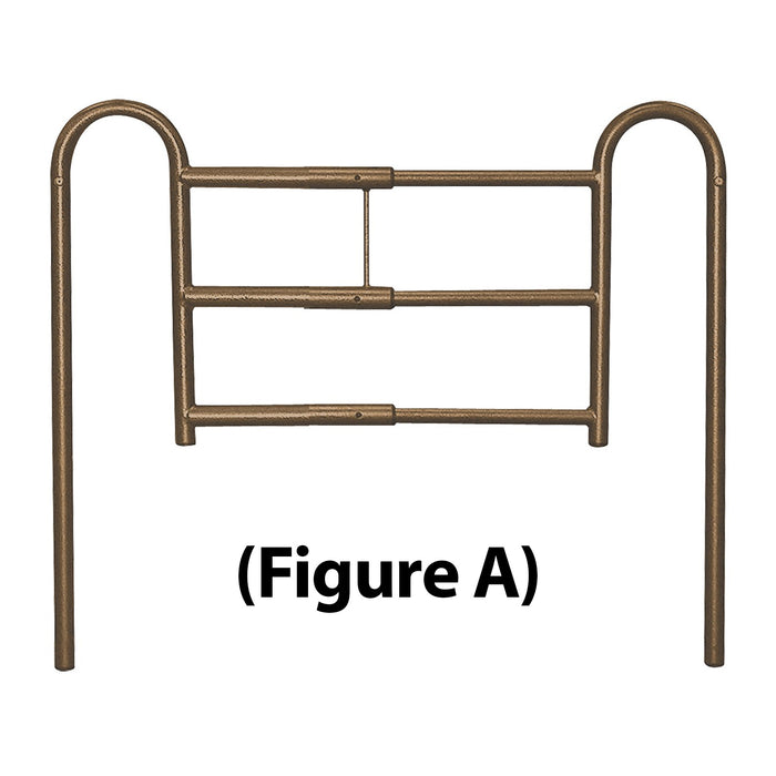 Adjustable Length Home-Style Bed Rail Tool-Free
