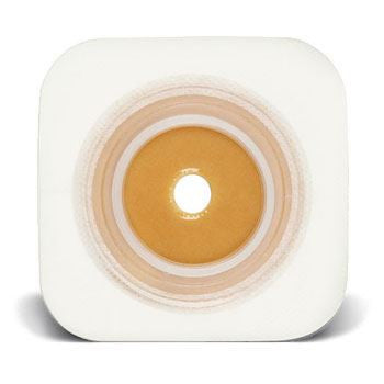 "Natura® Two-Piece Pre-Cut Stomahesive® Skin Barrier - 45mm (1-3/4"") flange with Flexible Tape Collar"