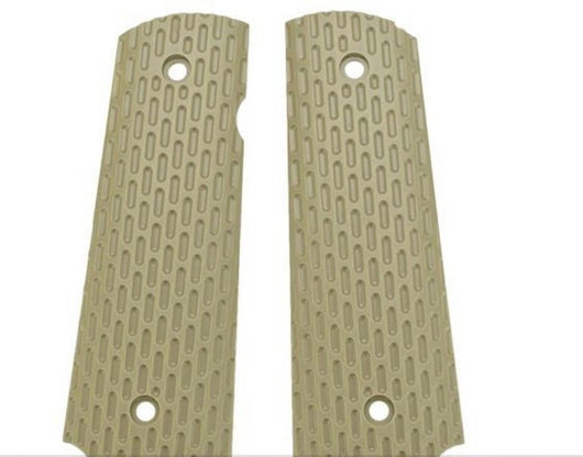 WE-TECH airsoft custom combat tactical Tan 1911 pistol grips - Gas Blowback Armory