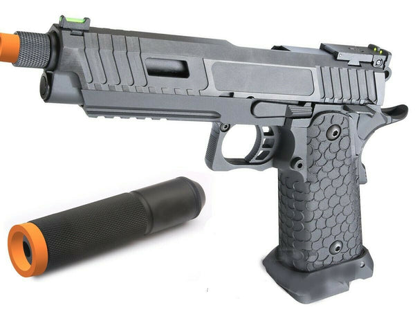 CO2 blowback Baba Yaga 1911 Hicapa full metal airsoft pistol barrel extension - Gas Blowback Armory