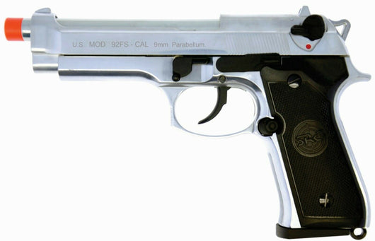 SRC CO2 gas blowback M9 Inox SR92 full metal airsoft pistol silver GBB 350 FPS - Gas Blowback Armory