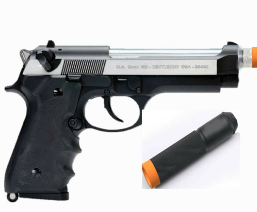 SRC CO2 gas blowback M9 FS full metal airsoft tactical pistol w barrel extension - Gas Blowback Armory