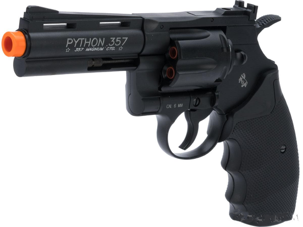 Colt CO2 gas full metal airoft.357 Magnum PYTHON 4 inch revolver 450 FPS - Gas Blowback Armory