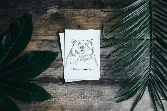 """I love you Beary much"" A6 Anniversary Card"