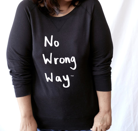 No Wrong Way Black Slouchy Long Sleeve Shirt