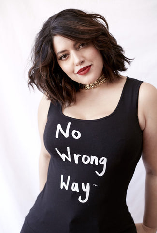 No Wrong Way Black Tank
