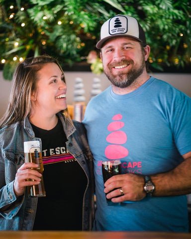 Jake and Jen Duensing at Great Escape Beer Works Springfield Missouri