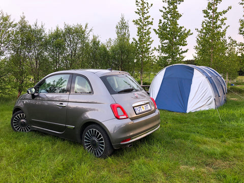 Campsite in Iceland with Fiat