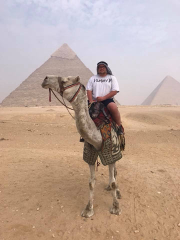 Kyle Brewington at the Great Pyramids