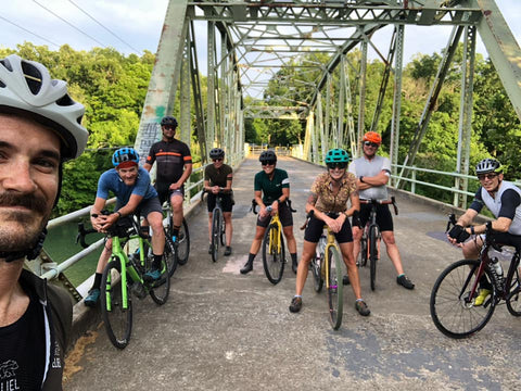 Group Mountain Bike Ride in Springfield Missouri
