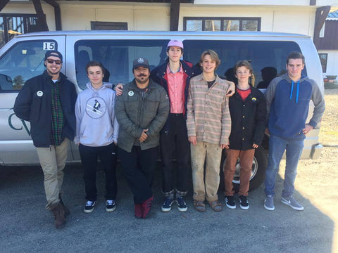 Will Rivera and ASTC Snowboarding Team