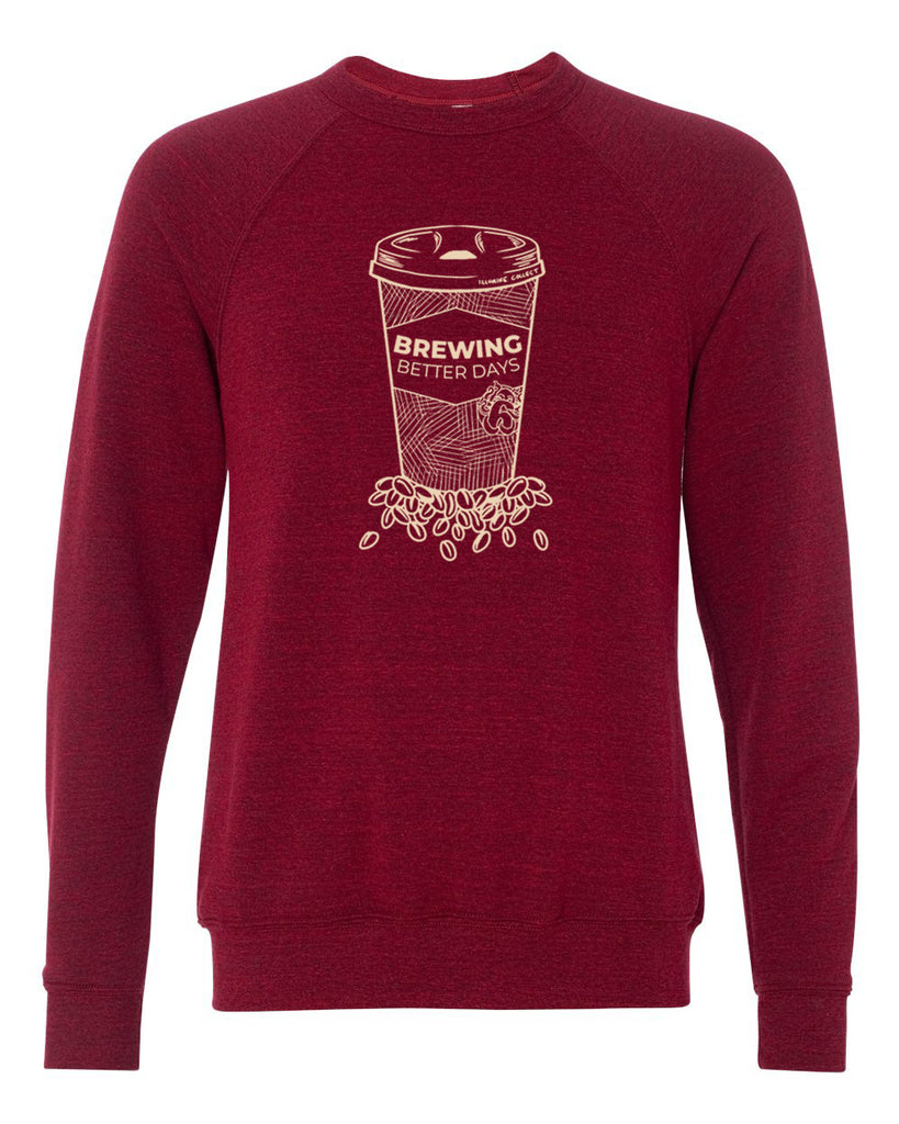 Brewing Better Days Sweatshirt - Cardinal