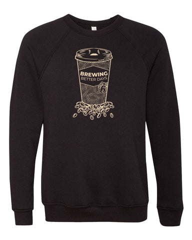 Brewing Better Days Sweatshirt - Black