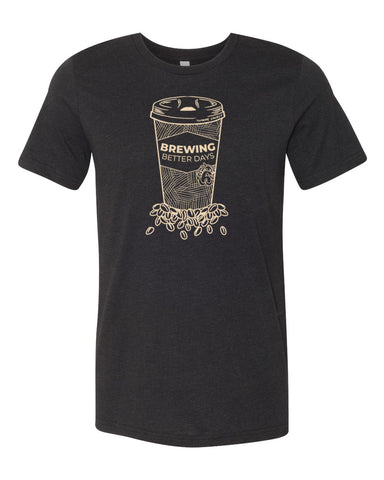 Brewing Better Days Tee - Heather Black