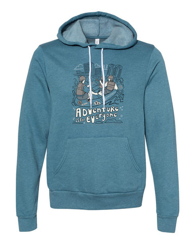 Adventure is for Everyone Hoodie - Heather Teal