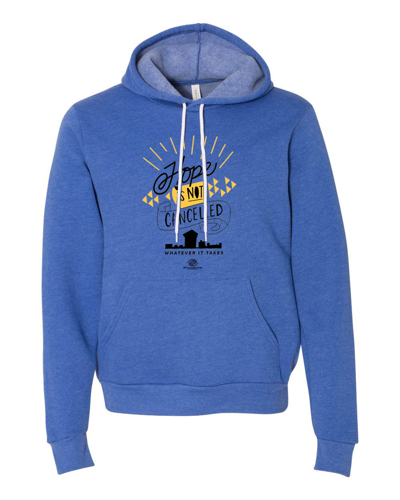Hope is NOT Cancelled Hoodie - Heather True Royal