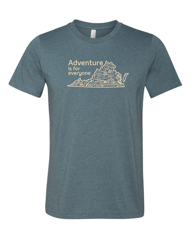 Adventure Is For Everyone Tee - Heather Slate