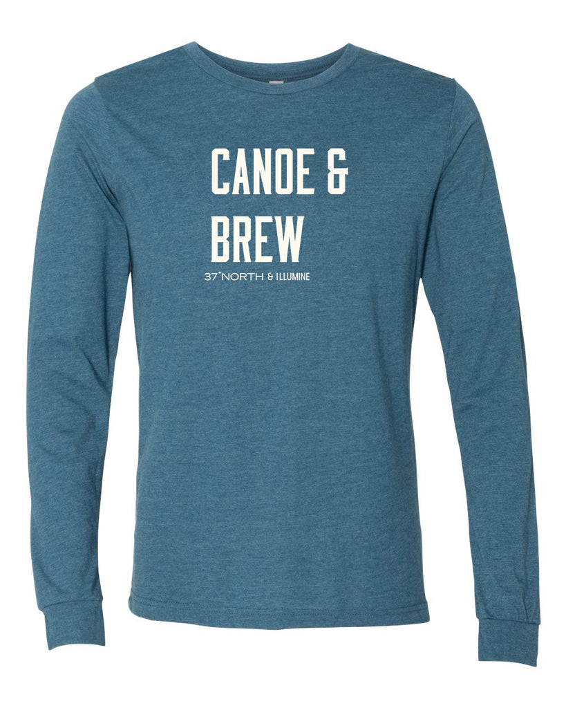 Canoe & Brew Long Sleeve - Heather Deep Teal