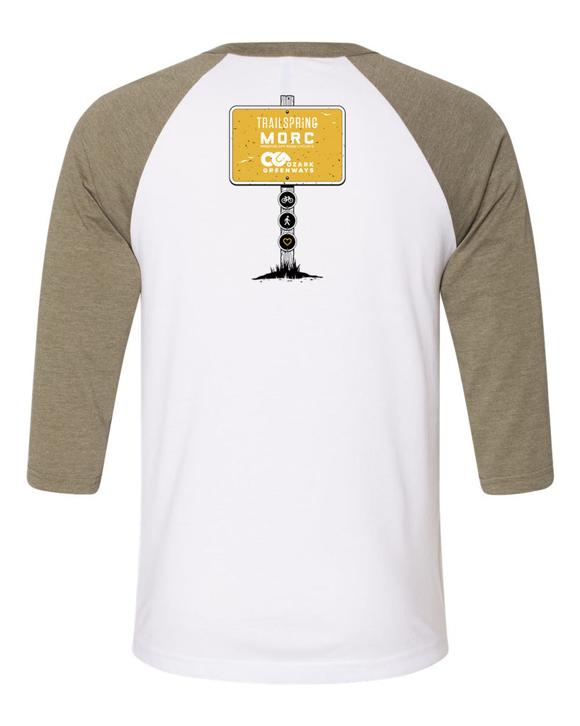 The Dirt Connect Us All Baseball Tee - Heather Olive