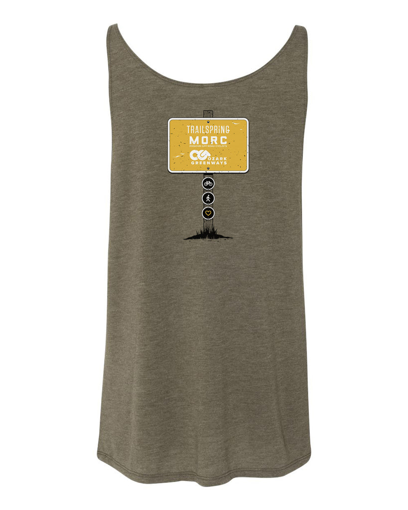 The Dirt Connect Us All Ladies Tank - Heather Olive