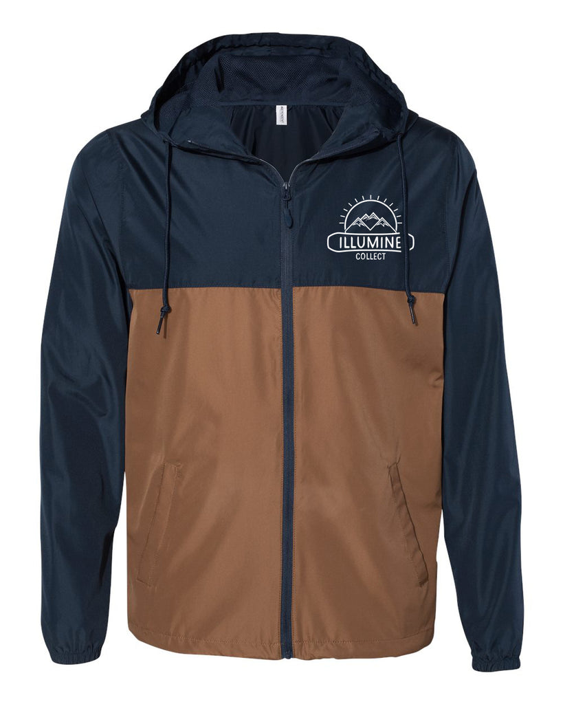 McDermott Logo Windbreaker - Classic Navy/Saddle