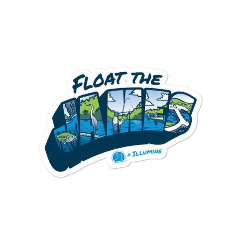 Float The James Sticker