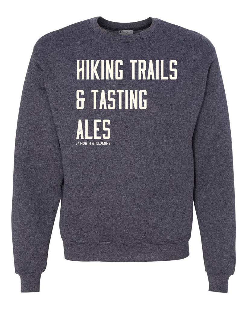 Hiking Trails Sweatshirt - Heather Navy